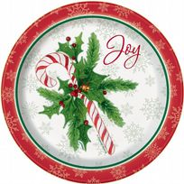 "Candy Cane Christmas 7"" Paper Plates (8)"